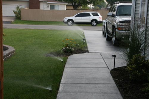 Sprinklers In Action